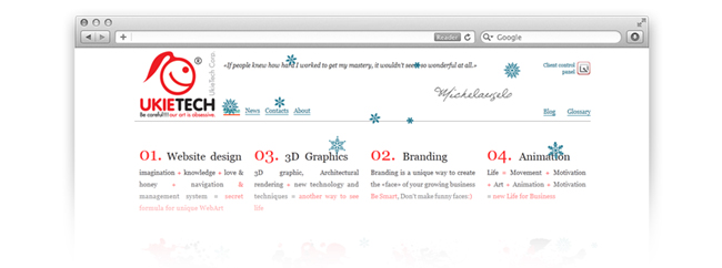 Christmas and New Year web site redesign und upgrade Ukietech