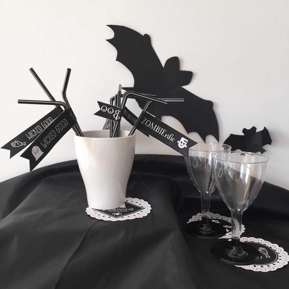 halloween, free, DIY, craft, straw labels, Halloween printables