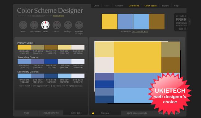 chicago web design studio ukietech - Color Scheme Designercom